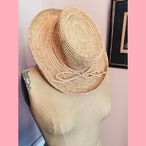 Accessories - Straw Woven Hat with Large Brim